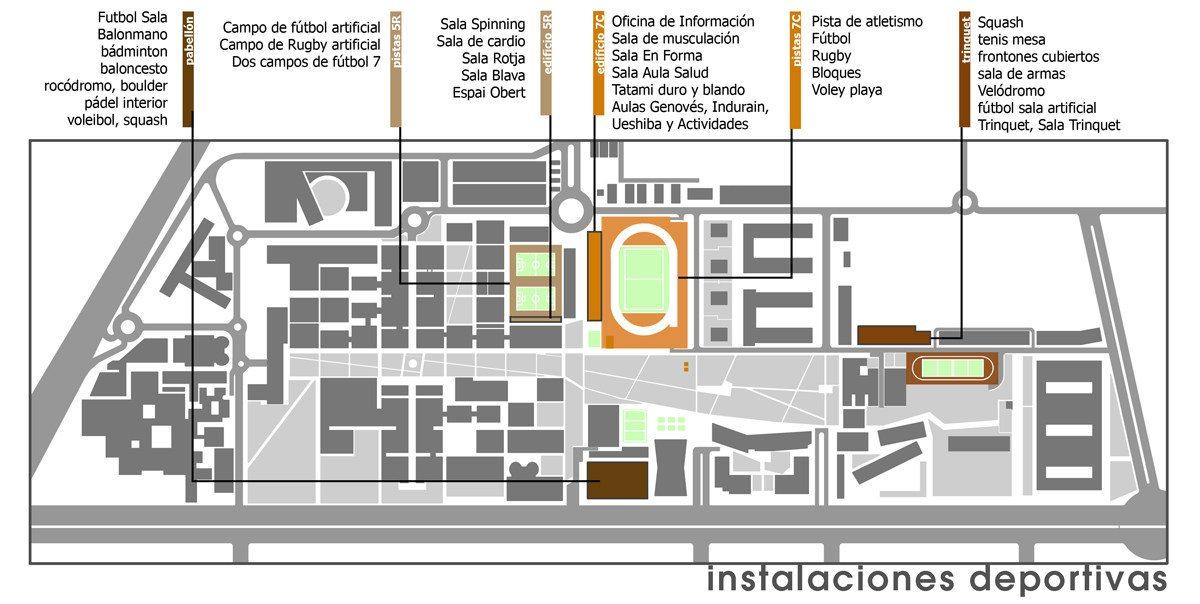 mapa upv deportes Colegio Mayor Galileo Galilei