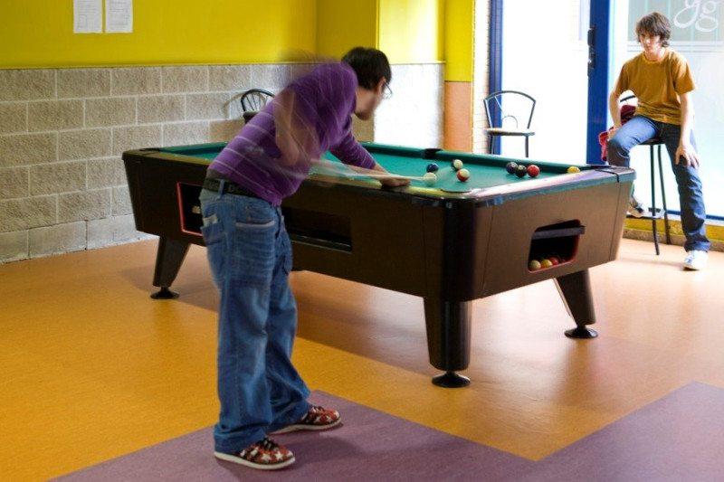 Sala de juegos del Colegio Mayor Galileo Galilei de Valencia