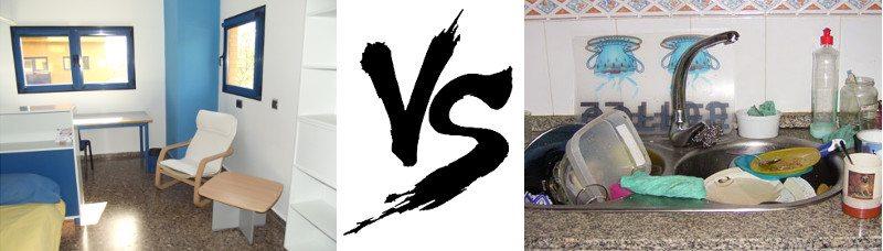 comparativa Residencia Universitaria Valencia vs Piso Estudiantes
