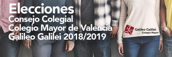 Colegio mayor valencia galileo galilei elecciones 2018