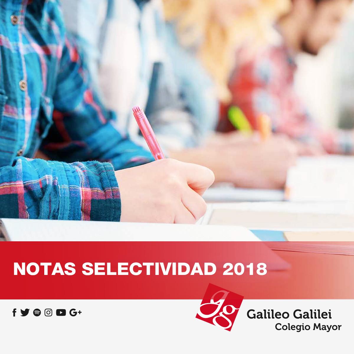 Notas Selectividad Colegio Mayor en Valencia Galileo Galilei